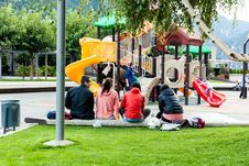 Free Group Of Teenagers In Playground Royalty Free Stock Photos - 84962038