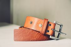 Free Brown Leather Belt Stock Image - 84962091