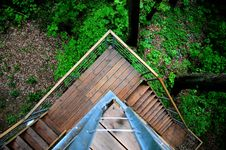 Free Overhead View Of Stairs On A Rural Building Royalty Free Stock Photo - 84962145