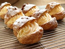 Free Bake Pastries With White Cream Fillings Stock Image - 84962751