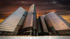 Free High Rise Office Buildings Royalty Free Stock Photo - 84964765