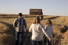 Free Group Of People Walking On A Hay Field During Day Time Stock Image - 84965781