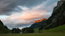 Free Sunset Over Seealpsee Lake Stock Photos - 84966293