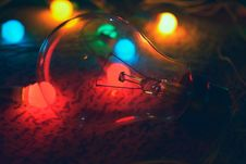 Free Lightbulb With Colored Lights Stock Photos - 84966583