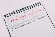 Free New Years Resolutions Stock Photography - 84966632