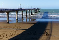Free Sand Artist. New Brighton Pier. Royalty Free Stock Images - 84967289