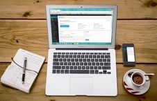 Free Office Tools And Cup Of Coffee Royalty Free Stock Photography - 84967437