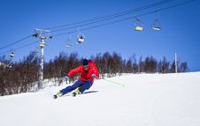Free Downhill Skiing Royalty Free Stock Images - 84967699