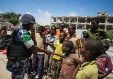 Free On Foot Patrol In Mogadishu With An AMISOM Formed Police Unit 14 Royalty Free Stock Image - 84968176