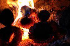 Free Burning Wood Royalty Free Stock Image - 84969496
