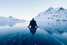 Free Man On Ice Stock Photo - 84969930