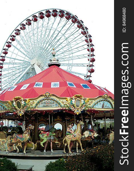 carousel and ferris wheel