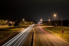 Free Highway At Night Royalty Free Stock Photo - 84970175