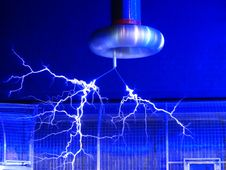 Free Blue Electric Sparks Stock Photo - 84970450
