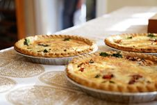 Free Freshly Baked Quiche Pies Stock Image - 84970451