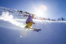 Free Downhill Skiing Royalty Free Stock Photo - 84970905