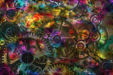 Free Multicolored Gears Stock Photography - 84978632