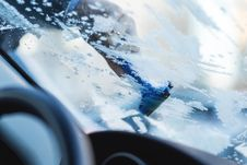 Free Removing Frost From Car Windshield Stock Photography - 84979842