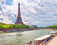 Free The Eiffel Tower Royalty Free Stock Photography - 84980197