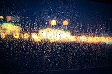 Free View Through A Window In The Rain Royalty Free Stock Photos - 84994338
