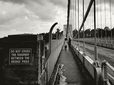 Free Pedestrians On Bridge Stock Photos - 84994423