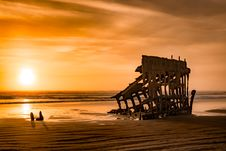 Free Ruined Building On Beach Stock Photography - 84996142