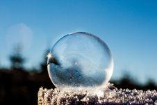 Free Frozen Soap Bubble Stock Image - 84996441