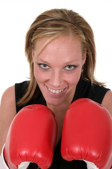 Free Beautiful Business Woman In Boxing Gloves 5 Royalty Free Stock Photos - 850058
