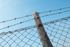 Free Barbed Wire Fence Stock Image - 851301
