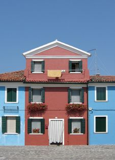 Free Colorful Houses In Venice Stock Photography - 851902