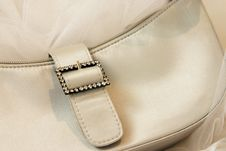 Free Beige Handbag Detail Royalty Free Stock Photography - 853497