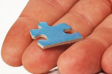 Free Puzzle In Hand Stock Photo - 854090