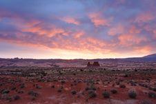 Free Sunrise Toward La Sal Mountains Stock Photo - 854910