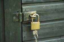 Free Padlock With Key 01 Stock Image - 855161
