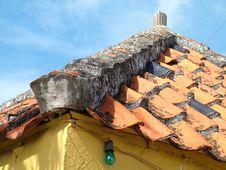 Free Roof Top Clay Shingles Stock Photo - 855800