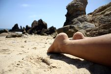 Free Feet On The Beach Stock Images - 855914
