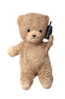 Free Teddy On The Phone Stock Images - 856394