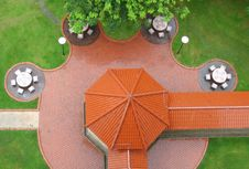 Free Top View Of Pavillion Royalty Free Stock Photography - 857017