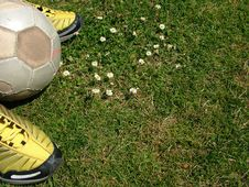 Football - Waiting To Play Stock Photography
