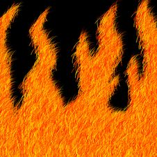 Furry Flame Effect Stock Image