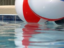 Beach Balls In The Pool Royalty Free Stock Photo