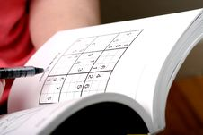 Free Sudoku Royalty Free Stock Photo - 858845