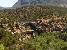 Canyon Bridge Stock Photography