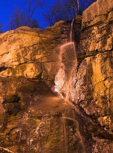Free Waterfall At Night Royalty Free Stock Photos - 859118