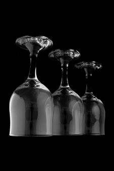 Free Wine Glasses Reverse Stock Photos - 859393