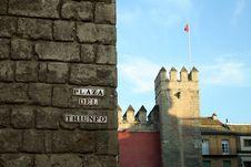 Alcazar In Seville, By The Plaza De Triunfo Royalty Free Stock Photo