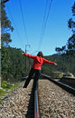 Free Walking In The Railway Royalty Free Stock Photos - 8500198