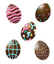 Free Chocolate Easter Eggs Decorated Royalty Free Stock Images - 8500719