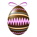 Free Chocolate Easter Eggs Decorated Royalty Free Stock Photography - 8500777