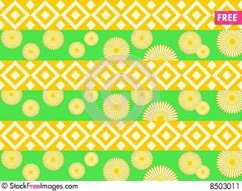 Free Flower Pattern Background Stock Image - 8503011